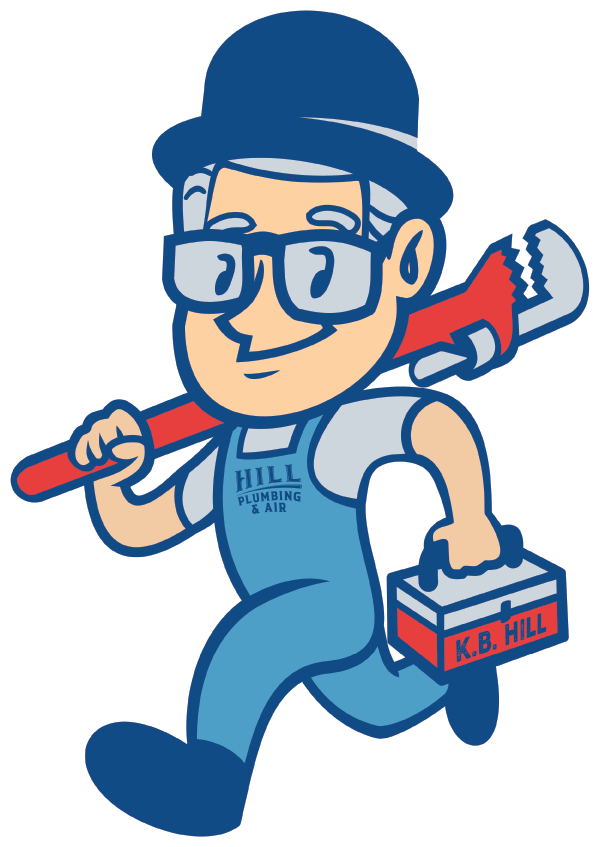 Hill Plumbing and Air mascot